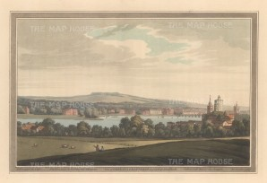 Chelsea: View of Chelsea and part of Battersea from East Wandsworth. After Joesph Farington.