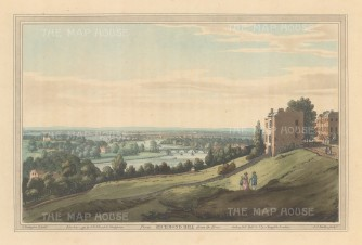 Richmond: View down the Thames from Richmond Hill. After Joesph Farington.