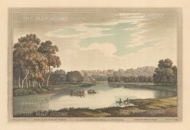 Richmond: View of Richmond Hill from Twickenham. After Joesph Farington.