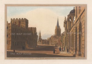 High Street facing West: With Queen's College and University College in foreground.After Joseph Farington.