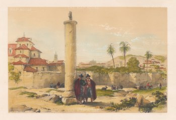 """Vivian: Cordoba. 1838. An original colour antique lithograph. 15"""" x 10"""". [SPp1001]"""