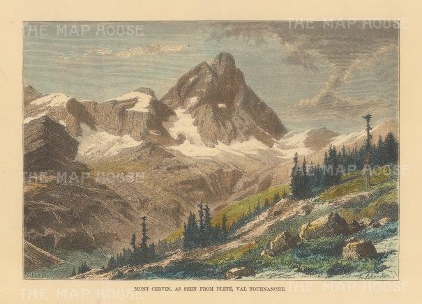 Matterhorn (Mount Cervin) from Plete, Val Tournanche.