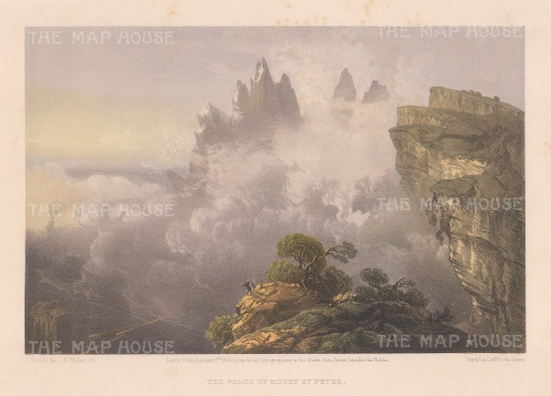 Mount St Peter (Ai-Petri): View of the misty range above Alupka.