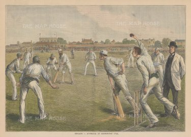 England v Australia at Kennington Oval: WG Grace batting.