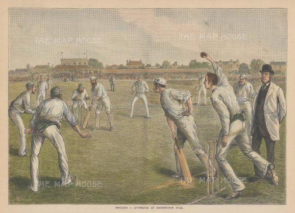 England v Australia at Kennington Oval: WG Grace batting.