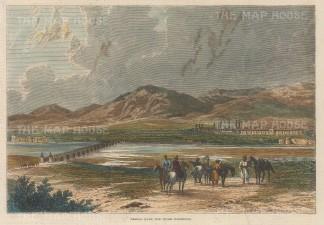 "Illustrated London News: Khosan. 1863. A hand coloured original antique wood engraving. 9"" x 6"". [AFGp140]"