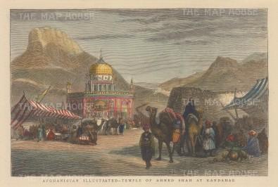 "Illustrated London News: Kandahar. c1860. A hand coloured original antique wood engraving. 9"" x 6"". [AFGp93]"