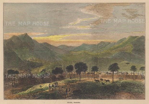 """Illustrated London News: Tanzania. 1873. A hand coloured original antique wood engraving. 9"""" x 6"""". [AFRp1422]"""