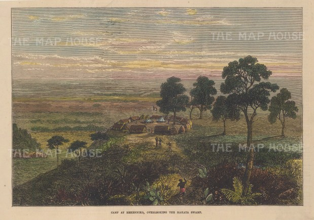Tanzania: View overlooking the Makata swamp towards the Uluguru Mountains.