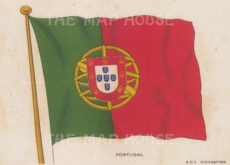 "BDV Cigarettes: Portugal. c1910. Original printed colour on silk. 6"" x 4"". [ARMp100]"