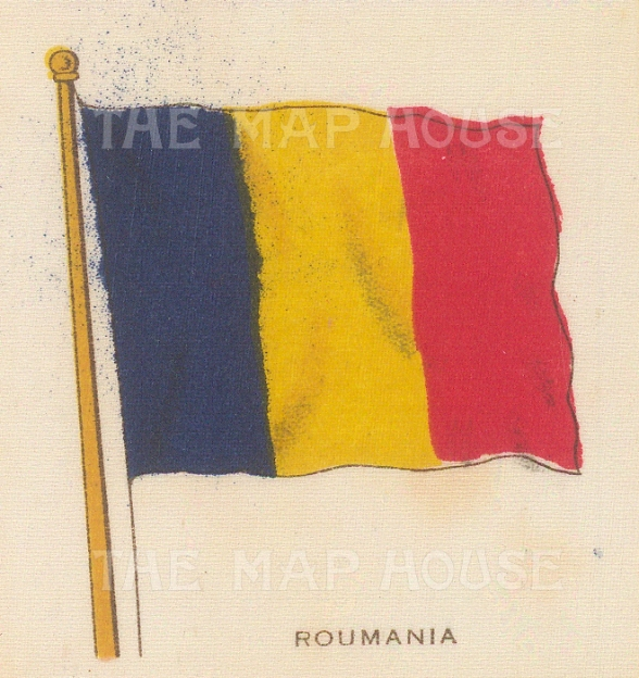 "Cigarette Cards: Romania, c1910. Original printed colour on silk. 3"" x 2"". [ARMp103]"