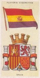 """Player's Cigarettes: Spain. c1935. An original antique chromolithograph. 1"""" x 3"""". [ARMp113]"""