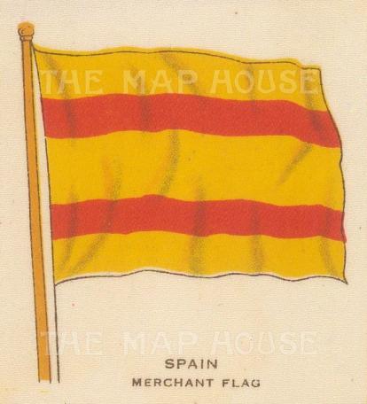 "Cigarette Cards: Spain. c1910. Original printed colour on silk. 2"" x 3"". [ARMp114]"