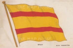 "BDV Cigarettes: Spain. c1910. Original printed colour on silk. 6"" x 4"". [ARMp115]"