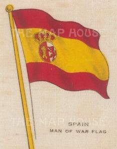 "Cigarettes Cards: Spain. c1910. Original printed colour on silk. 2"" x 3"". [ARMp116]"