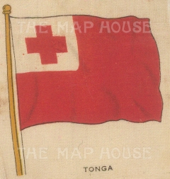 "Cigarette Cards: Tonga. c1910. Original printed colour on silk. 2"" x 3"". [ARMp119]"