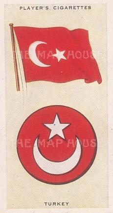 "Player's Cigarettes: Turkey. c1935. An original antique chromolithograph. 1"" x 3""[ARMp120]"