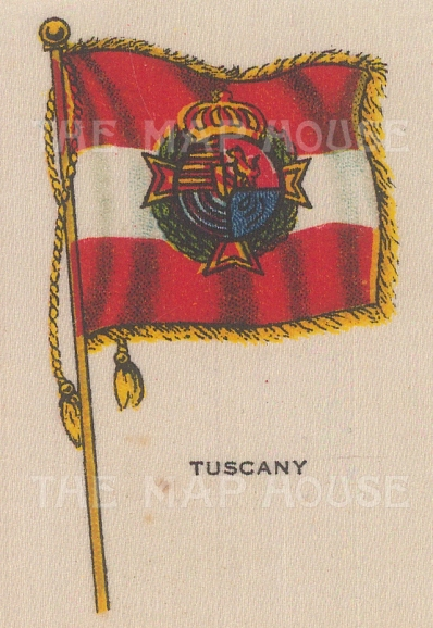 "Cigarette Cards: Italy, Tuscany. c1910. Original printed colour on silk. 2"" x 3"". [ARMp122]"