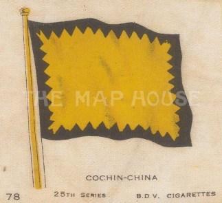 "Cigarette Cards: Cochin-China, now Vietnam. c1910. Original printed colour on silk. 2"" x 3"". [ARMp130]"
