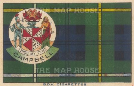 "BDV Cigarettes: Campbell. 1910. Original printed colour on silk. 7"" x 5"". [ARMp137]"