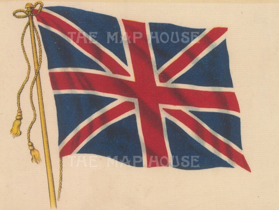 "BDV Cigarettes: Union Jack. c1910. Original printed colour on silk. 6"" x 4"". [ARMp150]"
