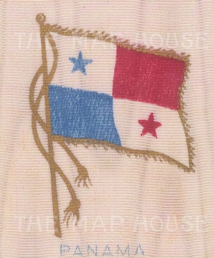 """Anonymous: Panama. c1925. Original printed colour on silk. 2"""" x 2"""". [ARMp156]"""