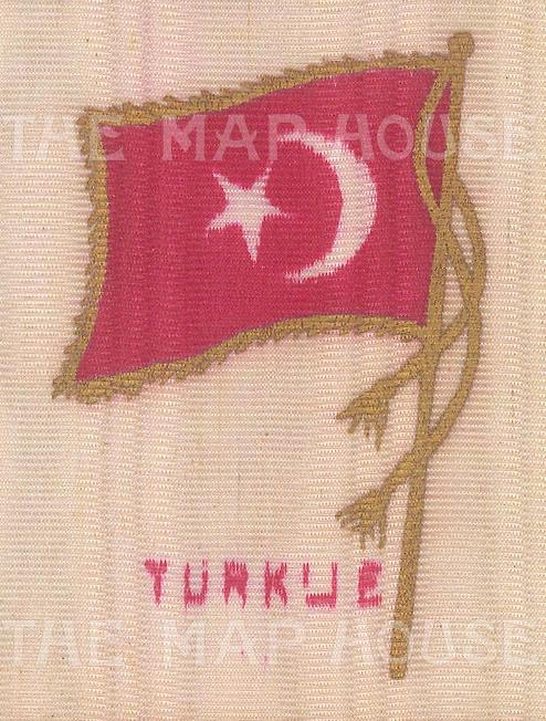 "Anonymous: Turkey. c1925. Original printed colour on silk. 2"" x 2"". [ARMp157]"