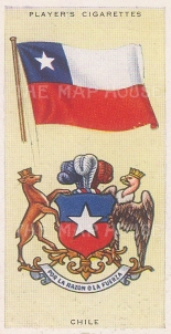 """Player's Cigarettes: Chile. c1935. An original antique chromolithograph. 1"""" x 3"""". [ARMp18]"""