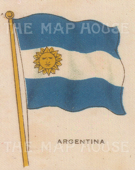 "Cigarette Cards: Argentina. c1910. Original printed colour on silk. 2"" x 3"". [ARMp2]"
