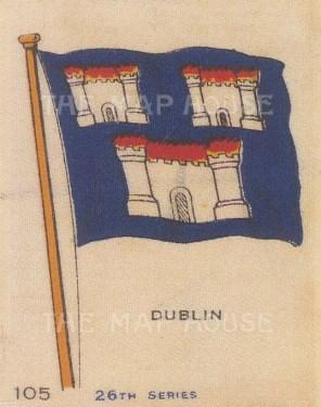 "Cigarette Cards: Irenland, Dublin. c1910. Original printed colour on silk. 2"" x 3"". [ARMp32]"