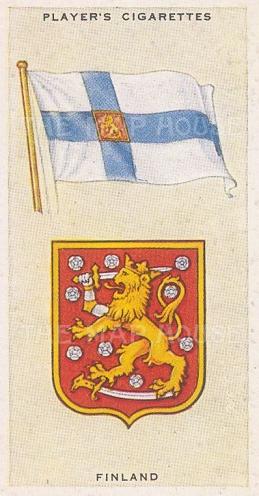 "Player's Cigarettes: Finland. c1935. An original antique chromolithograph. 1"" x 3"". [ARMp38]"