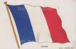 "BDV Cigarettes: France. c1910. Original printed colour on silk. 6"" x 4"". [ARMp44]"