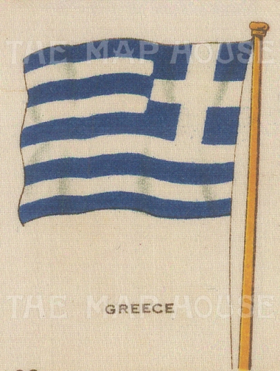 "Cigarette Cards: Greece. c1910. Original printed colour on silk. 2"" x 3"". [ARMp48]"