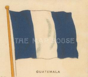 "Cigarette Cards: Guatemala. c1910. Original printed colour on silk. 3"" x 2"". [ARMp49]"
