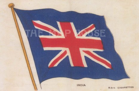 Flag of India as part of the British Empire.