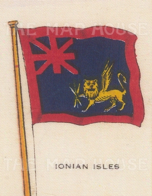 "Cigarette Cards: Ionian Islands. c1910. Original printed colour on silk. 2"" x 3"". [ARMp58]"