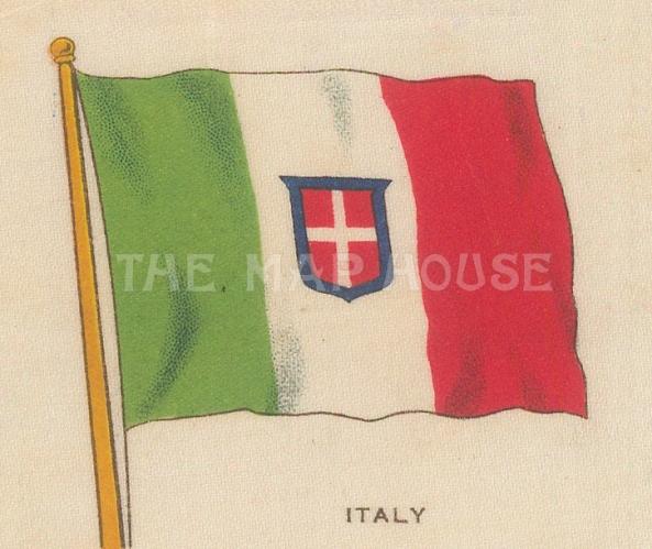 "Cigarette Cards: Italy. c1910. Original printed colour on silk. 3"" x 2"". [ARMp62]"