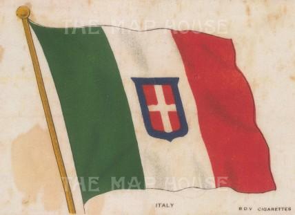 "BDV Cigarettes: Italy. Original printed colour on silk. 6"" x 4"". [ARMp64]"