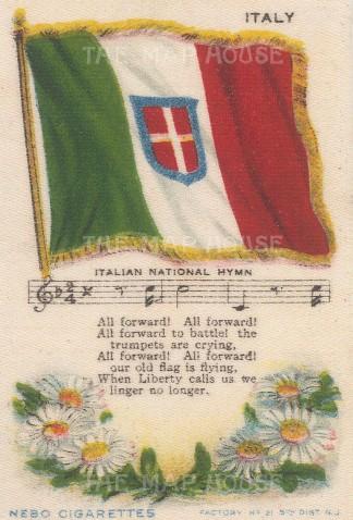 "Nebo Cigarettes: Italy. c1908. Original printed colour on silk. 3"" x 4"". [ARMp65]"