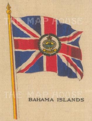 "Cigarette Cards: Bahamas. c1900. Original printed colour on silk. 2"" x 3"". [ARMp6]"