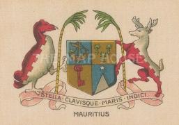 "Cigarette Cars: Mauritius. c1915. Original printed colour on silk. 3"" x 2"". [ARMp79]"