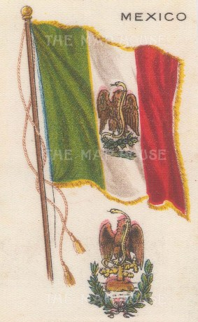 "Nebo Cigarettes: Mexico. c1908. Original printed colour on silk. 2"" x 4"". [ARMp80]"
