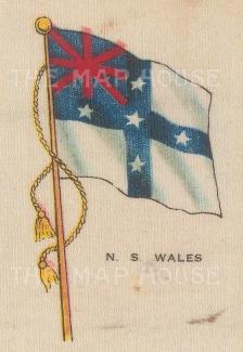 "Cigarette Cards: Australia, New South Wales. c1910. Original printed colour on silk. 2"" x 3"". [ARMp85]"