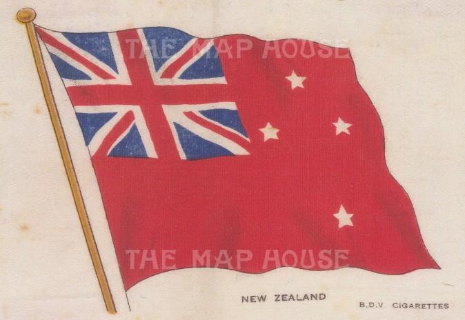 "BDV Cigarettes: New Zealand. c1910. Original printed colour on silk. 6"" x 4"". [ARMp88]"