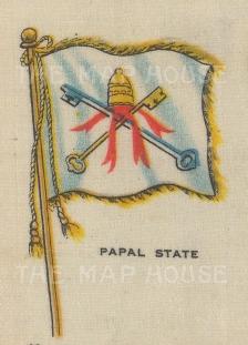 "Cigarette Cards: Papal State. c1910. Original printed colour on silk. 2"" x 3"". [ARMp95]"