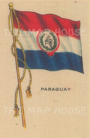 "Cigarette Cards: Paraguay. c1910. Original printed colour on silk. 2"" x 3"". [ARMp96]"