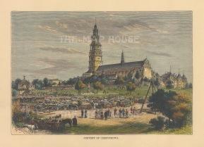 Czestochowa: View of the Jasna Gora Monastary.