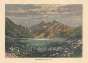 "Reclus: Lake Balaton, Hungary. 1894. A hand coloured original antique wood engraving. 8"" x 6"". [CEUp546]"