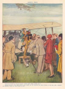 """Punch: Safety First. 1929. An original vintage chromolithograph. 7"""" x 9"""". [DECp2183]"""