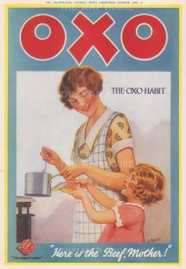 """Illustrated London News. Oxo. 1926.. An original vintage chromolithograph. 9"""" x 13"""". [DEQCp2190]"""